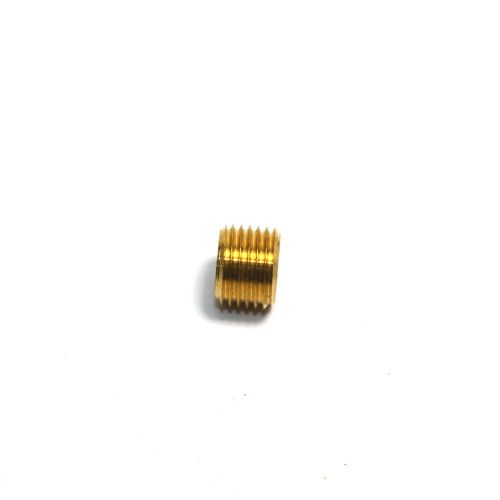 "Solid Brass M10 x 1mm Pitch to 1/4"" BSW Headless Reducer Bush Adaptor"